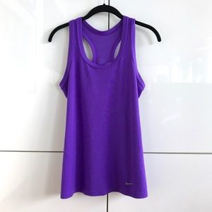 Like New Nike Dri-Fit Fitted/Ribbed Violet Tank